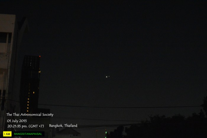 Planetary Conjunction of Venus and Jupiter